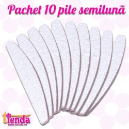 SET 10 PILE SEMILUNĂ ZEBRĂ 100/180