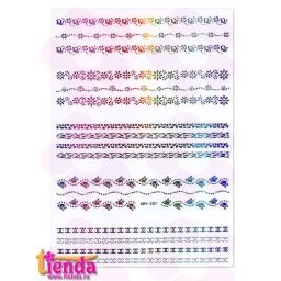 Abțibild Dantelă Multicoloră ADY-C07