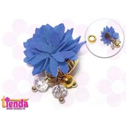 Floricică textilă albastră -6-