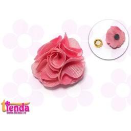 Floricică textilă nuanță de roz -9-