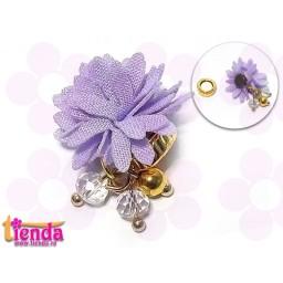 Floricică textilă lila -10-