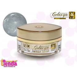 Gel UV Finish Gelaxyo :Karat TWINKLE EFFECT 1 - Argintiu Sclipitor 15ml