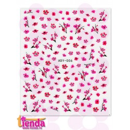 Abțibild flori roz ADY006