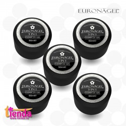 GEL UV 3 în1 Tienda Euronägel CLEAR  5 x 50ml