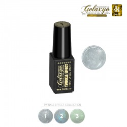 Gel UV Finish Gelaxyo :Karat TWINKLE EFFECT 1 - Argintiu Sclipitor  5ml