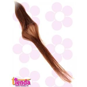 Extensii de păr natural cu cheratină castaniu