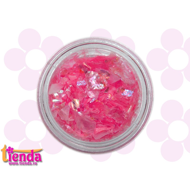 Sclipici ice pink tienda ro nails make up cosmetics