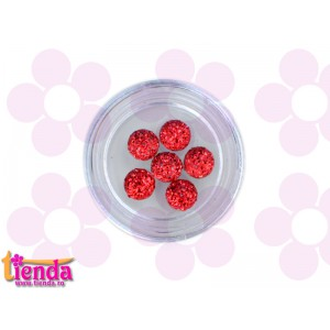 SET 6 CRISTALE ROTUNDE RED