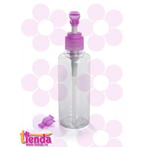 Sticlă plastic cu pompă