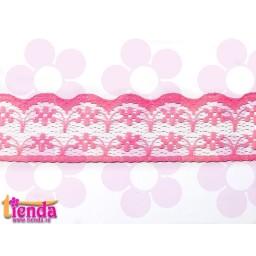 Dantelă roz model 02