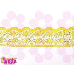 Dantelă galbenă model 01